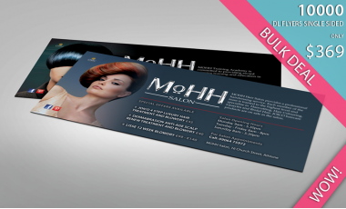 DL Flyers Printed in Full Colour