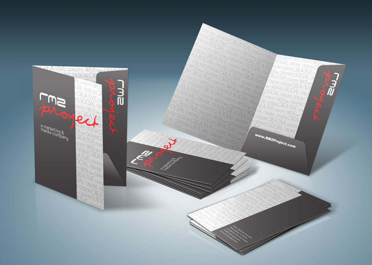 Presentation folders custom folder printing | rush flyers.